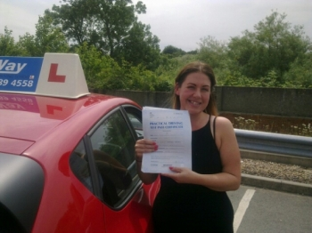 Passed on 11th July 2014 at Colwick Driving Test Centre with the help of her driving instructor Mike Kalwa....