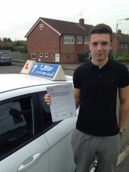 Passed on 3rd September 2014 at Clifton Driving Test Centre with the help of his driving instructor Martin Powell