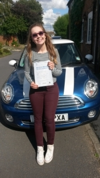 Passed on 27th August 2014 at Colwick Driving Test Centre with the help of her driving instructor Alex Sleigh