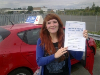 Passed on 2nd September 2014 at Colwick Driving Test Centre with the help of her driving instructor Mike Kalwa