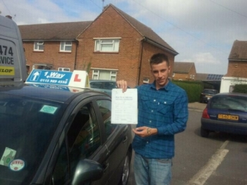 Passed on 3rd September 2014 at Colwick Driving Test Crntre with the help of his driving instructor Tony Singh